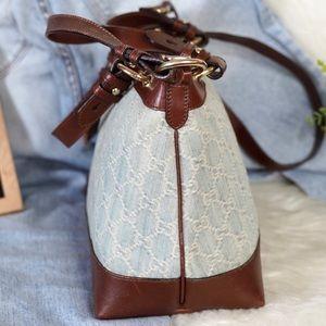 Gucci Bags - Gucci Denim & Leather Satchel / Crossbody Bag